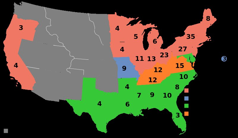 1860 Election results
