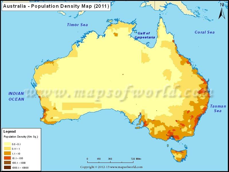 Australia population density
