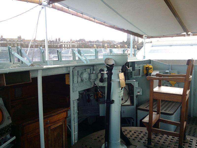 HMS Cavalier bridge
